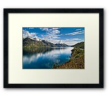 Beautiful Lake Wakatipu New Zealand Framed Print
