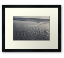 Patterns in the Surf Framed Print