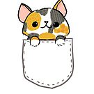 Calico Kitty in Pocket by fluffymafi