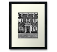 Hayfield House Front Entry Framed Print