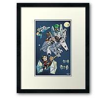 Star Wars cute Framed Print