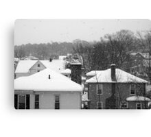 Snowy Buildings Canvas Print