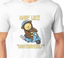 Non-Troversy Bear on Scooter Unisex T-Shirt