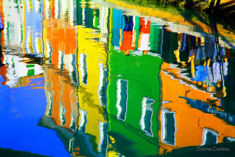 Burano Reflections by Donna Corless