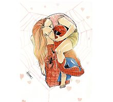 Spidey and MJ Photographic Print