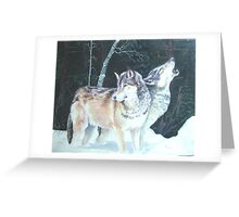 Alpha wolves rest before the hunt Greeting Card