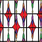 Op Art Floral Pattern (Variation) by Jana Gilmore