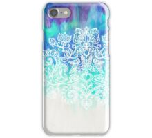 Indigo & Aqua Abstract iPhone Case/Skin