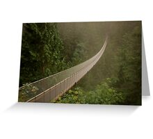 Capilano Suspension Bridge-Soft Side Greeting Card