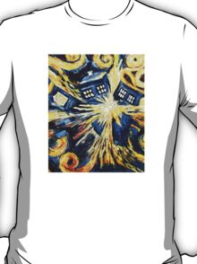 Doctor Who - Tardis Exploding by Van Gogh T-Shirt