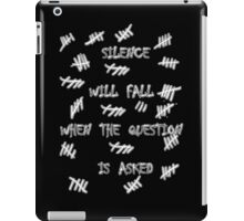 Doctor Who - Silence Will Fall When the Question is Asked iPad Case/Skin