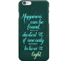 Harry Potter - Dumbledore Quote  iPhone Case/Skin