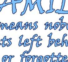 Lilo & Stitch - Ohana Family Quote Sticker