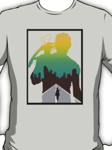 The Walking Dead - Daryl Silhouette (Rick On The Road) T-Shirt