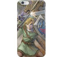 The Legend of Zelda - Link Fighting iPhone Case/Skin