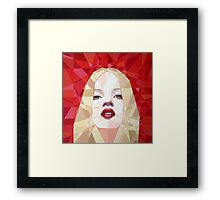 Prismatic Seductive Expression Framed Print