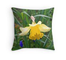 """Yellow Daffodil"" Throw Pillow"
