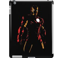 The Avengers - Iron Man Minimal Figure Black Background (2) iPad Case/Skin