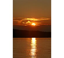 Sunset Fire Over Caddy Lake Photographic Print