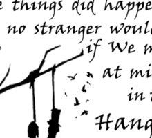 Hunger Games - The Hanging Tree Song (2) Sticker