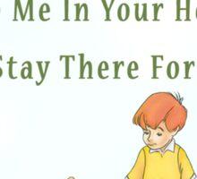 Winnie the Pooh - Firendship Quote  Sticker