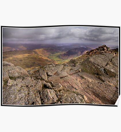 Windermere View from Harrison Stickle Poster