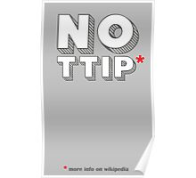 No Ttip - Red Asterisk Poster