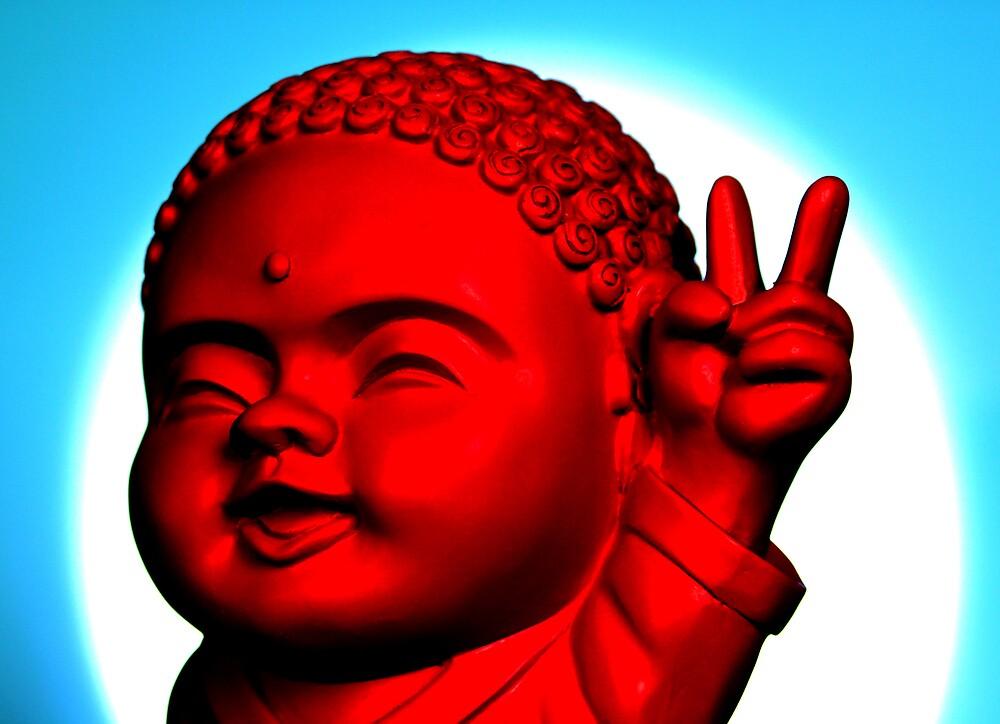Peace Buddha by Sarah Crowe