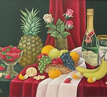 Still life with pineapple by Olga Levitas