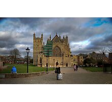 Exeter City Centre: Exeter Cathedral Stormy Day UK Photographic Print
