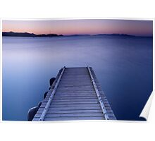 Dawn on the jetty Poster