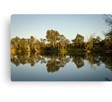 River Murray at sunset Canvas Print