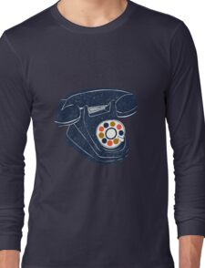 Retro Telephone Long Sleeve T-Shirt