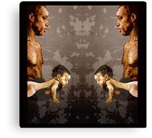 FATHER and SON - urban ART - mirror version Canvas Print