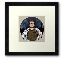 The hero of New York Framed Print