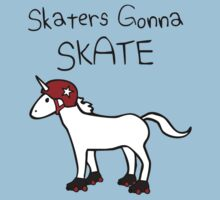 Skaters Gonna Skate (Unicorn Roller Derby) by jezkemp