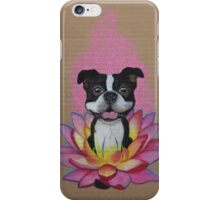 Zen Boston Terrier - Lotus Flower iPhone Case/Skin