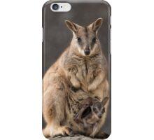 Mum and Joey Rock Wallabies  iPhone Case/Skin