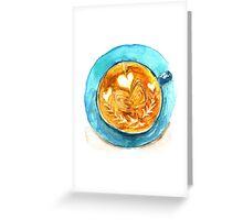hearts and coffee Greeting Card