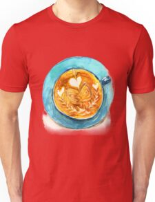 hearts and coffee Unisex T-Shirt