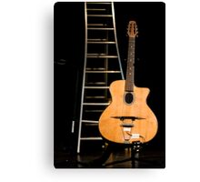 Guitar and scale Canvas Print