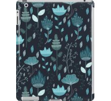Frozen Flowers Pattern iPad Case/Skin