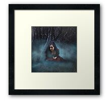 Voices in the mist Framed Print