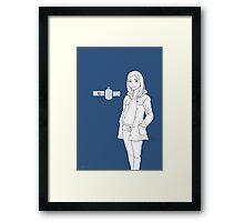 Blue is for Clara Framed Print