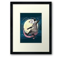 Opossum In Space Framed Print