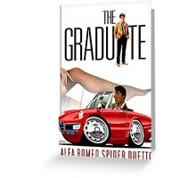 Alfa Romeo Duetto The Graduate Greeting Card