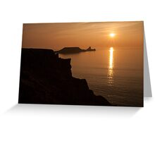 worms head sunset gower Greeting Card