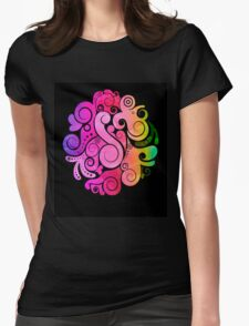 3D Art Color Womens Fitted T-Shirt