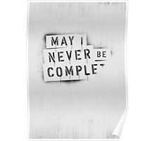 ◇ NEVER BE COMPLF Poster