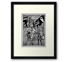 Dark Knight Homage Framed Print